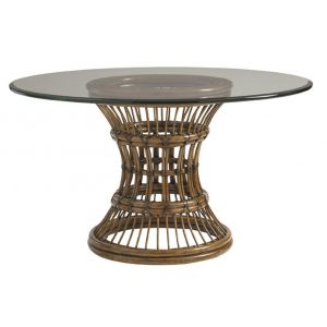 Tommy Bahama Home - Bali Hai Latitude Round Dining Table With 54-Inch Glass Top - 01-0593-875-54C