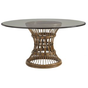 Tommy Bahama Home - Bali Hai Latitude Round Dining Table With 60-Inch Glass Top - 01-0593-875-60C