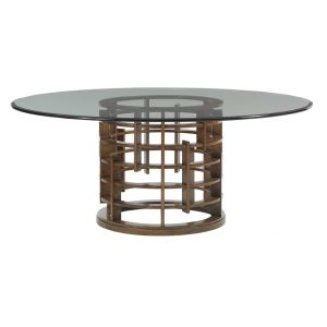 Tommy Bahama Home - Island Fusion Meridian Round Dining Table With 60-Inch Glass Top - 01-556-875-60C