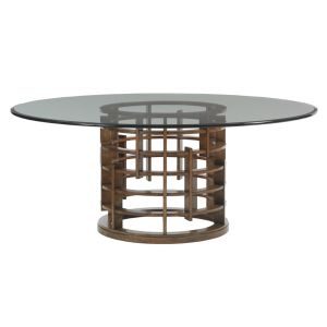 Tommy Bahama Home - Island Fusion Meridian Round Dining Table With 72-Inch Glass Top - 01-556-875-72C