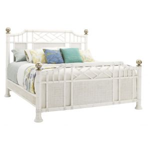 Tommy Bahama Home - Ivory Key Pritchards Bay King Panel Bed - 01-0543-134C