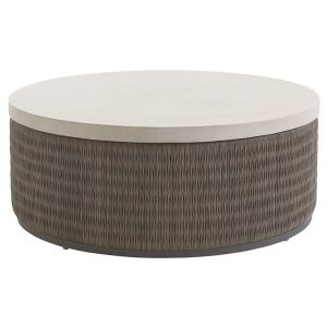 Tommy Bahama Outdoor - Cypress Point Ocean Terrace Round Cocktail Table with Weatherstone Top - 01-3900-943
