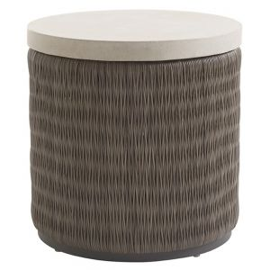 Tommy Bahama Outdoor - Cypress Point Ocean Terrace Round End Table with Weatherstone Top - 01-3900-953