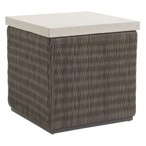 Tommy Bahama Outdoor - Cypress Point Ocean Terrace Square End Table with Weatherstone Top - 01-3900-957