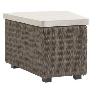 Tommy Bahama Outdoor - Cypress Point Ocean Terrace Wedge Table with Weatherstone Top - 01-3900-950