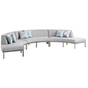 Tommy Bahama Outdoor - Del Mar 3-Piece Curved Sectional - 01-3800-52S-40