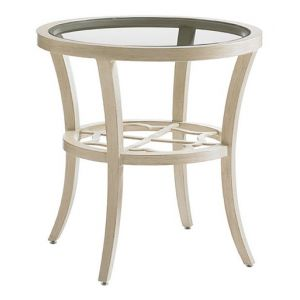 Tommy Bahama Outdoor - Misty Garden Round End Table With Inset Glass Top - 01-3239-950