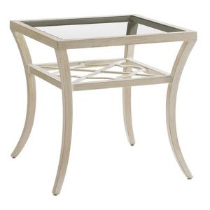 Tommy Bahama Outdoor - Misty Garden Square End Table With Inset Glass Top - 01-3239-955