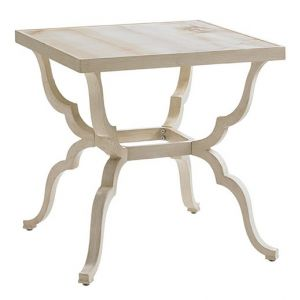 Tommy Bahama Outdoor - Misty Garden Square End Table With Porcelain Top - 01-3239-957C