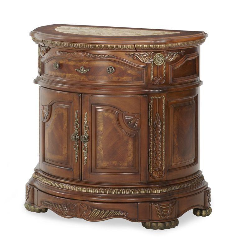 AICO by Michael Amini - Cortina Bedside Chest in Honey Walnut - N65040-28