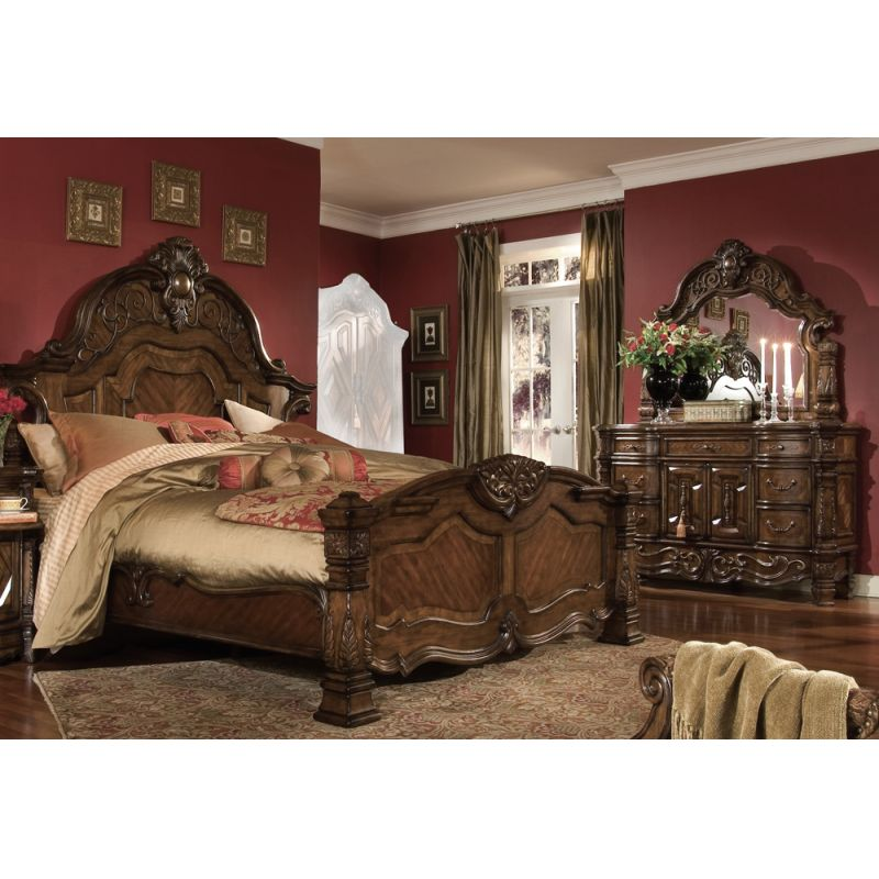 Windsor Court Queen Mansion Bedroom Set, Michael Amini Furniture Bedroom Set