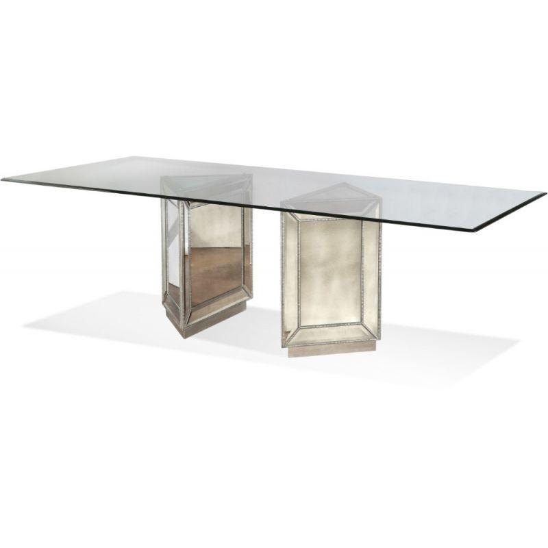 Bassett Mirror - Murano Double Pedestal Dining Table - D2624-600-909EC