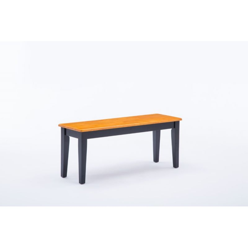 Boraam - Shaker Bench in Black and Oak - 36536