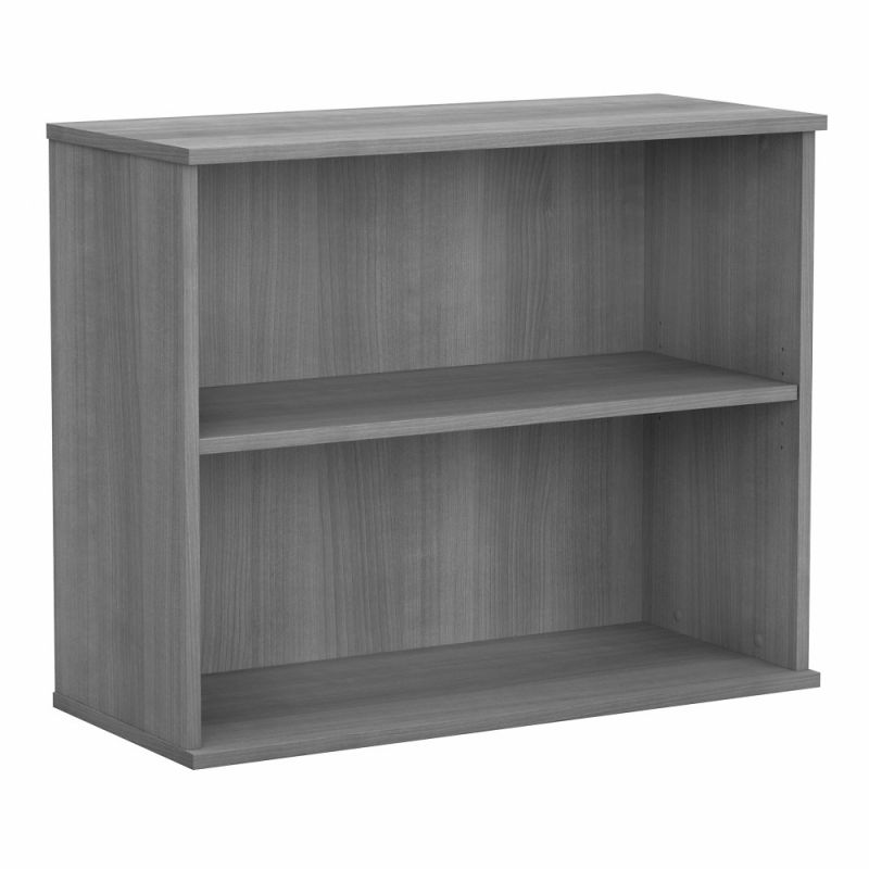 Bush Furniture - BBF Small 2 Shelf Bookcase in Platinum Gray - BK3036PG