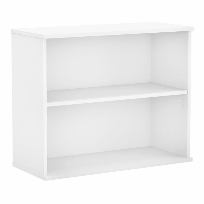 Bush Furniture - BBF Small 2 Shelf Bookcase in White - BK3036WH