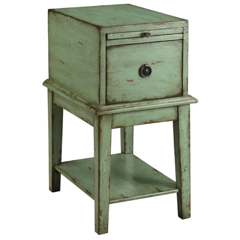 Coast To Coast - One Drawer Chest in Bayford Weathered Green - 39625