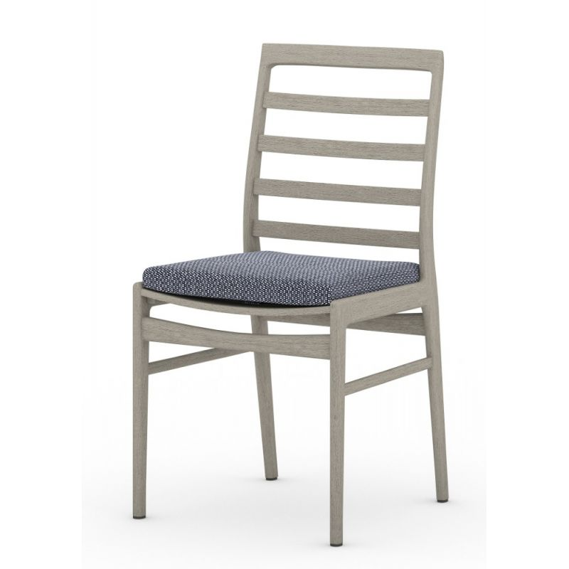 Linnet Outdoor Dining Chair Grey Navy, 4 Hands Outdoor Furniture