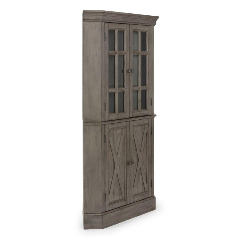 Homestyles - Mountain Lodge Gray Corner Cabinet - 5525-68