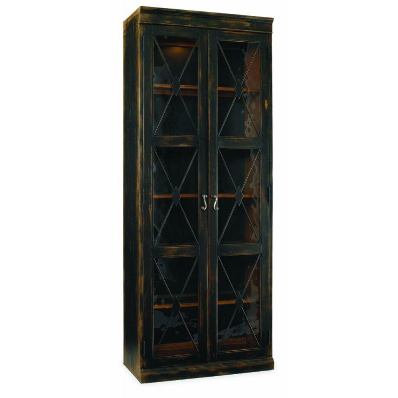 Hooker Furniture - Sanctuary Two-Door Thin Display Cabinet - Ebony - 3005-50001