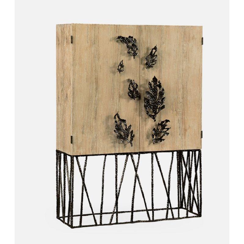 Jonathan Charles Fine Furniture - Artisan Falling Leaves Drinks Cabinet - 495035-LMA