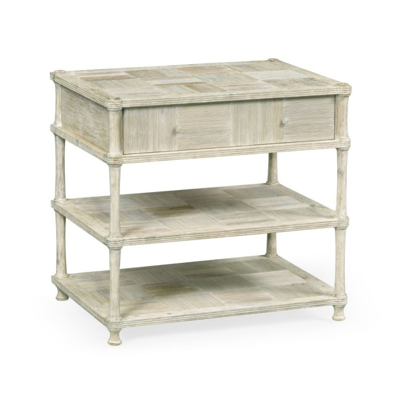 Jonathan Charles Fine Furniture - Country House Chic - Bobbin Washed Acacia Bedside Chest - 530207-WAA