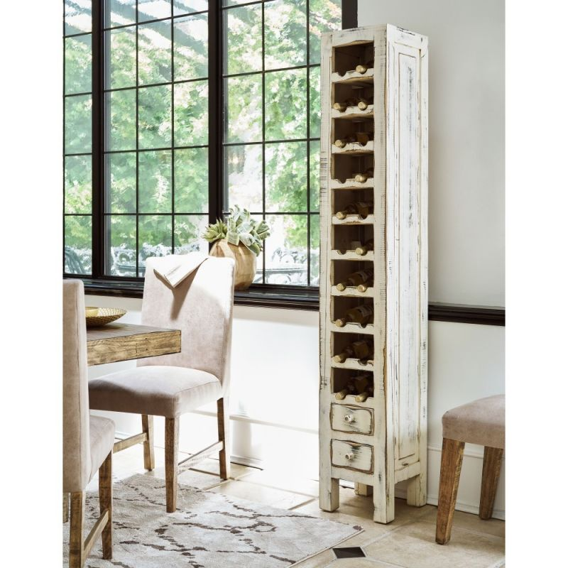 Picket House Furnishings - Blaire Wine Rack in White - MAAL700WR