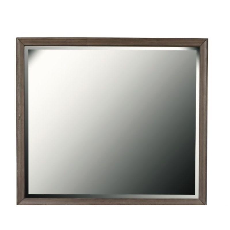 Pulaski - Hanover Square Framed Dresser Mirror in Elm Brown - S468-030