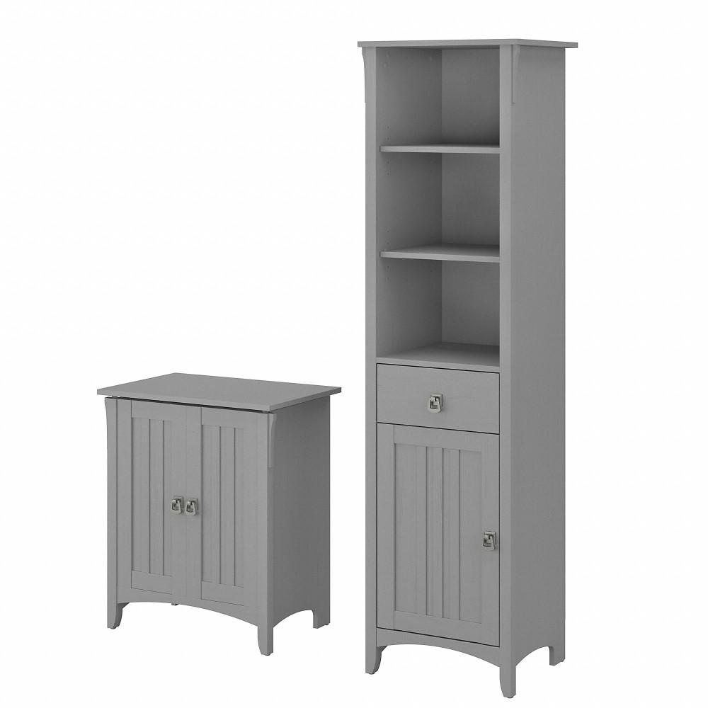 Bush Furniture Salinas Tall Linen, Tall Bathroom Cabinet With Laundry Hamper