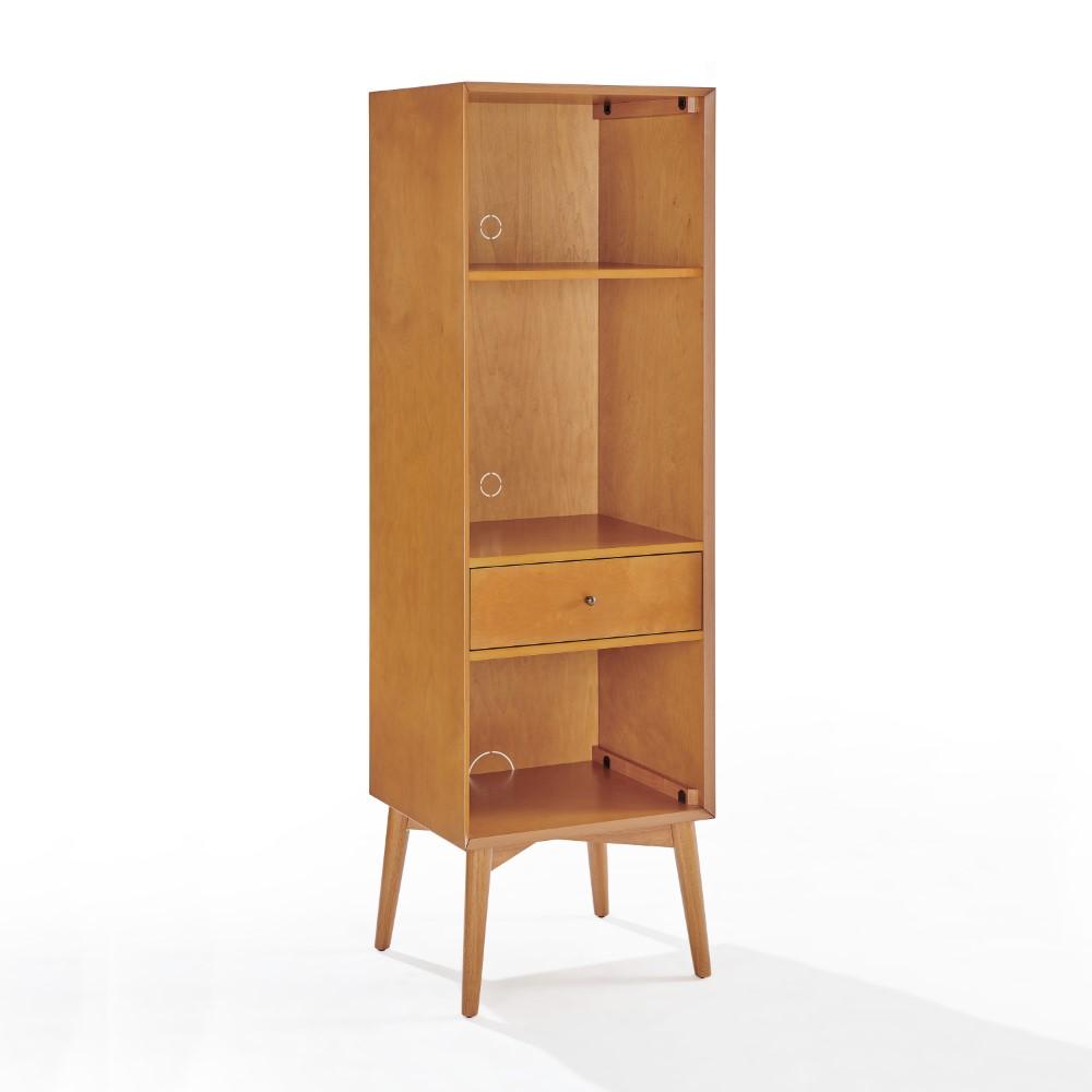 Crosley Furniture   Landon Record Storage Bookcase Acorn   CF20 AC