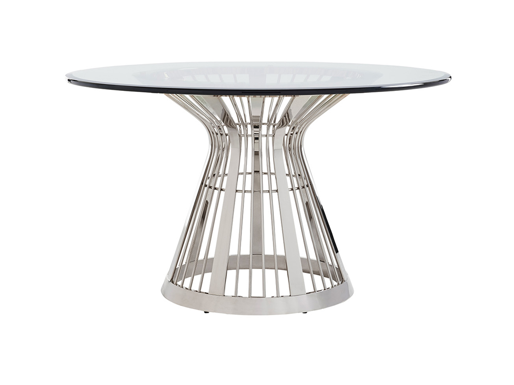 Ariana Riviera 54 Round Glass Top, 60 Inch Round Glass Top Dining Table Sets