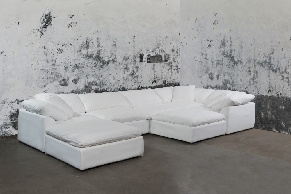 Sunset Trading Cloud Puff 7 Piece, Cloud Sectional Sofa
